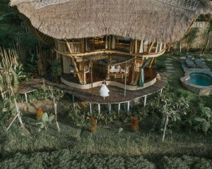 Bamboo house view from top