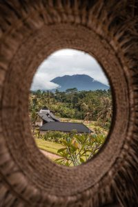 Mount Agung View from Bamboo house